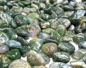 Moss Agate  -  Tumbled Gemstone Crystal - Protection, Healing, Reiki
