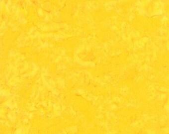 Yellow Batik Fabric - Los Cabos Basic Batik for Moda Fabrics - Tropical 4335 26 Yellow - 1/2 yard
