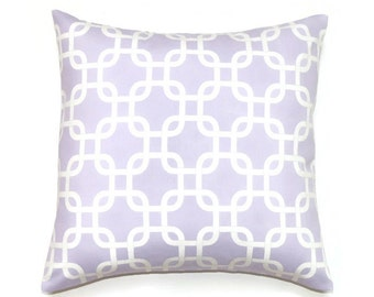 Lavender Pillow, 16x16 Pillow Cover, Decorative Pillows, Purple Pillow Covers, Girl Decor, Lilac Nursery Decor, Gotcha Wisteria Twill