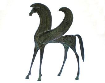 Bronze Horse Statue ,Pegasus , Bronze Animal Sculpture,Metal Horse Statue , Ancient Greek Art  , Ancient Greece Collectible, Greek Mythology