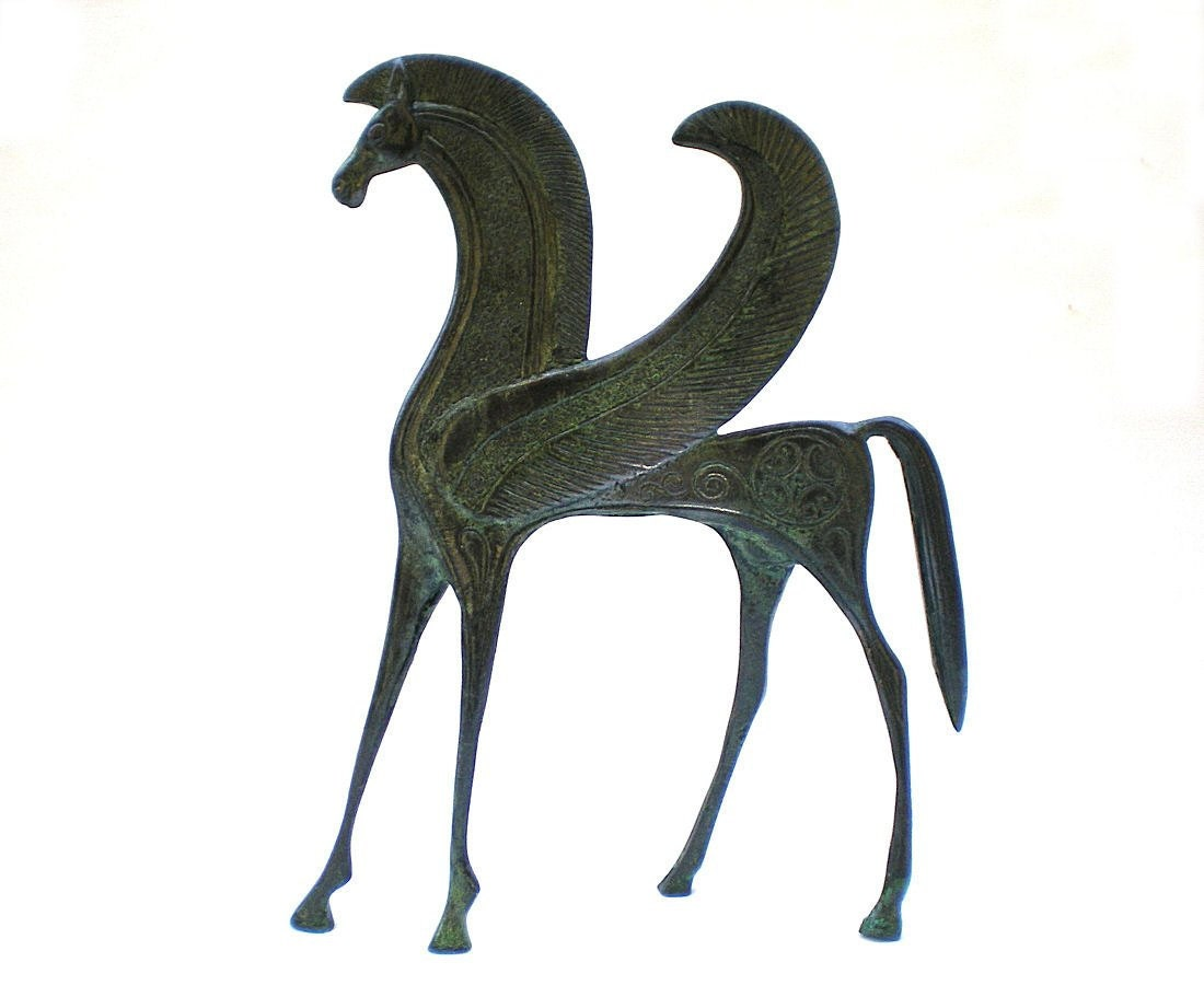 Bronze Horse Statue Pegasus Bronze Animal SculptureMetal