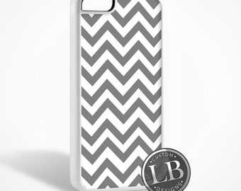 iPhone Case - Chevron Grey Pattern Designer - 4, 4s, 5, 5s, 5c, 6, 6 Plus Cover - id: 30008