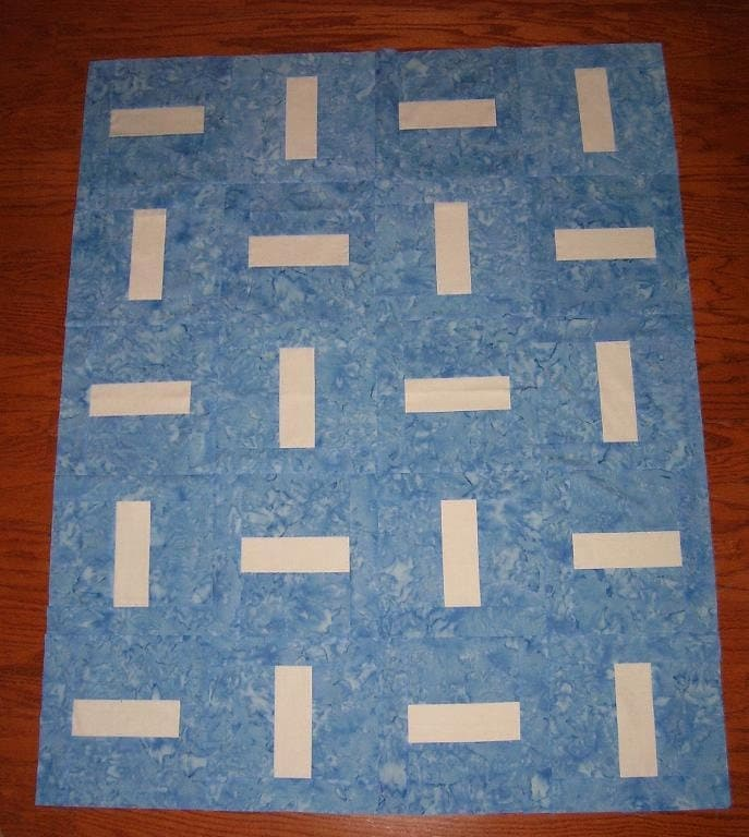 Super Easy Beginner Quilt Patterns : Super Simple Rails Quilt Pattern Beginner by JadedSpadeCreations