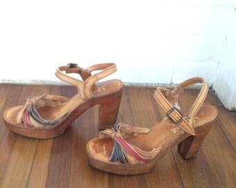 Vintage Leather Fanfare Shoes Size 7