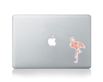 Calligraphy Flamingo Vinyl Sticker for Macbook (13/15) or Laptop