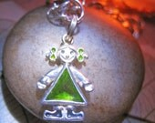 Haunted Bracelet Free w/ item purchase of 49 Dollars CHILD PROTECTION Magick Spell cast Sterling Green gem Witch Coven Cassia4