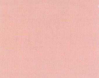 ORGANIC Cotton, MODA Solids Fabric 1 Yard Petal Pink