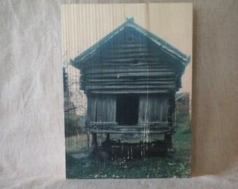 """Photo """"incrustée"""" sur un beau bloc de bois - Norvège - Photowood"""