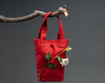 Linen Special Occasion Handbag