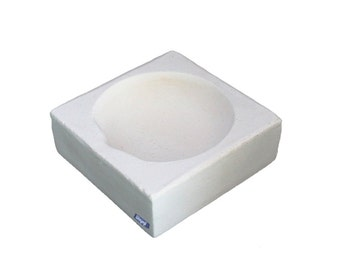 """Square Crucible 2"""" Melting Casting Dish For Jewelry Gold Silver Scrap Wa 365-522"""