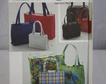 Simplicity Crafts Pattern No. 8331 (One Size) 1998 Totes/Purses Uncut