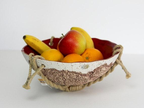 obstschale h ngeampel keramik von karolart auf etsy. Black Bedroom Furniture Sets. Home Design Ideas