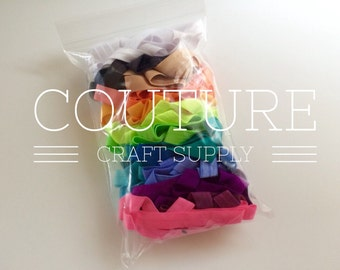 """20 Yard Grab Bag Solid 5/8"""" Fold Over Elastic - FOE for DIY Hair Ties & Headbands - Perfect for Birthday Parties or Showers - Assorted"""