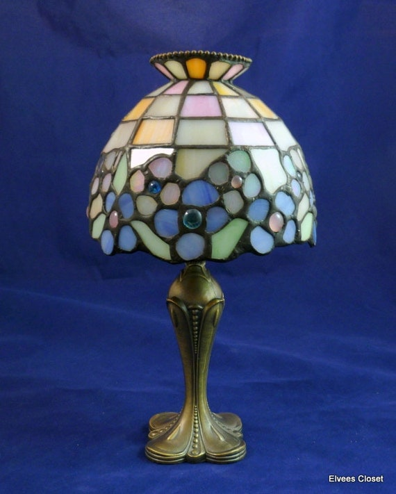 Vintage Retired Partylite Hydrangea Tiffany Style Stained