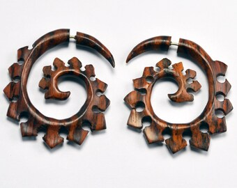 Tribal Spirel Fake Gauge Earring Plugs