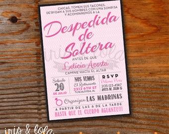 Spanish Despedida de Soltera Bachelorette Digital Invitation