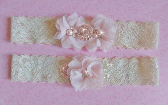 Items Similar To Wedding Lingerie Ivory Blush Wedding Garter Set Wedding Garter Meaning White