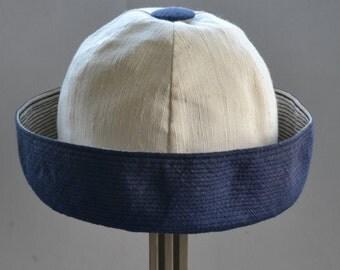 bob hat seaside vintage French woman in 1950
