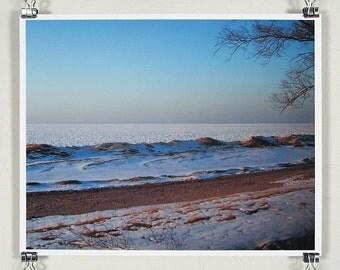Lake Michigan ice cover - 8x10 inch print