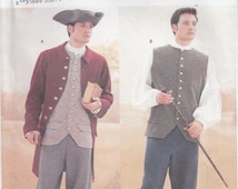 Butterick 3072 Mens Revolutionary War, Colonial, Coat, Weskit, Shirt, Breeches, Tricorn Hat, Sizes 32, 34, 36, 38, 40, 42 and 44, 46, 48