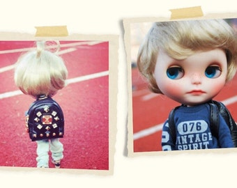 So cute!!White Blonde Wig for Blythe
