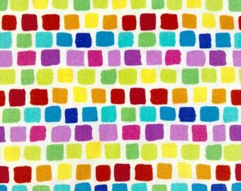 1/2 yard  of Fabric - Rainbow Squares