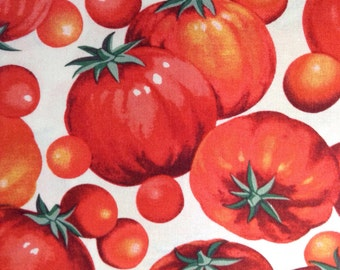 One Fat Quarter of Fabric Material - Tomatoes