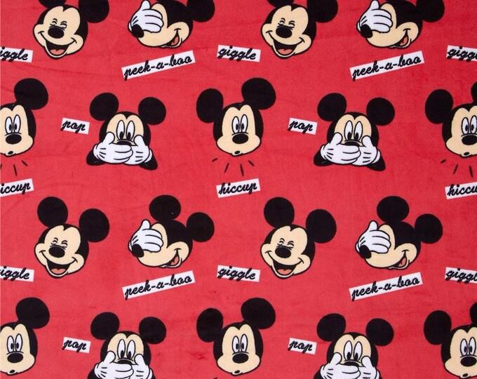 Springs Creative - Minky - Mickey Faces - Minky/Velour Fabric
