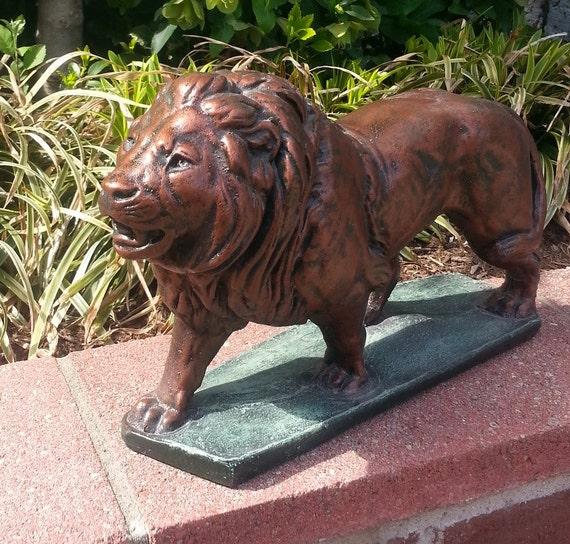 Lion Statue Sculpture Home And Garden Decor Wild Cat
