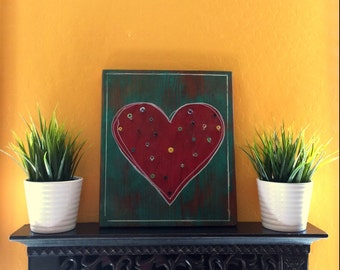 Rustic Distressed Heart