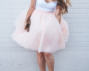 BACK IN STOCK - Peach Signature Tulle Skirt