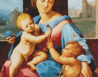 Aldobrandini Madonna PDF Cross Stitch Pattern