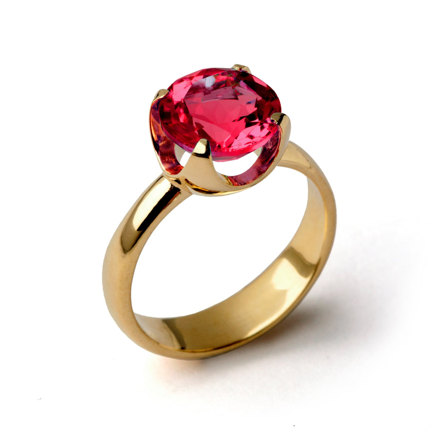 cup ruby engagement ring gold ruby ring ruby by aroshataglia. Black Bedroom Furniture Sets. Home Design Ideas