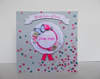 3D Card With Love & Especially For You Mothers Day Card