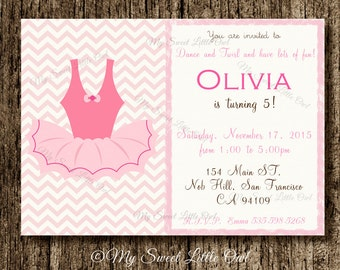 Ballerina  invitation -  Ballerina baby shower -  pink ballerina invite - ballerina party - ballerina birthday - pìnk ballerina invitation