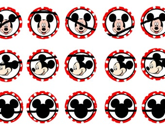 mickey mouse bottle cap images instant download