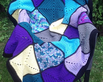 Basic Granny Square Patchwork Crochet Blanket
