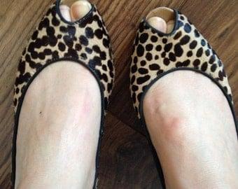 Rockabilly Leopard print pony hair heels