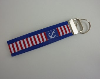 """Key chain """"Anchors"""" in blue/white/red"""