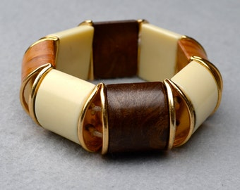 Segmented Plastic Bracelet Vintage