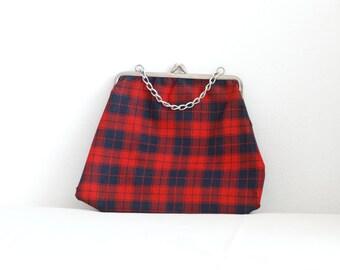 SALE Vintage Tartan Hand Bag