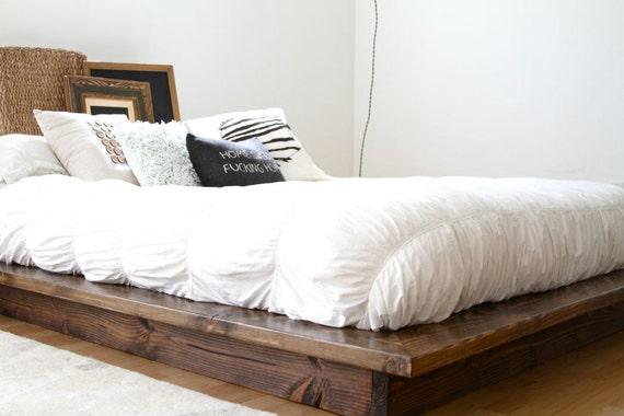 Modern floating platform bed frame by pereidarice on etsy for Floating bed frame