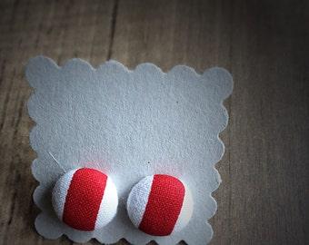 Red Stripe Earrings