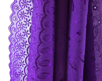 Colored Cotton Eyelet Curtain Panel