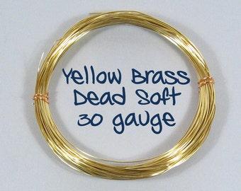 30ga DS Yellow Brass Wire - Choose Your Length