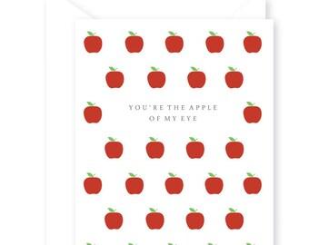Apple of my Eye Greeting Card, Preppy