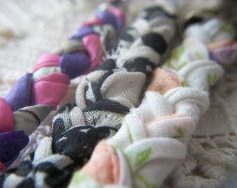 Handmade 3 Vintage Assorted Hanky Bracelets Hankies Recycled and Repurposed!