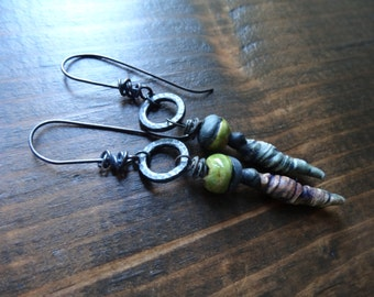 Gnarled Growth earrings - Dangle, Natural, Artisan, Unique, Earthy, OOAK