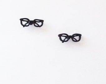 Retro Style Glasses stud Earrings