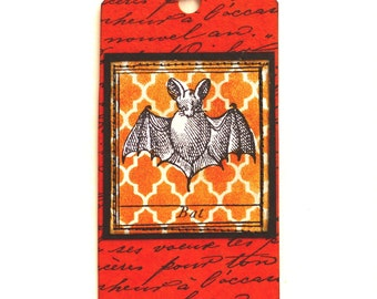 Halloween rubber stamp / Cute bat stamp / Unmounted rubber stamp or cling stamp (140306)